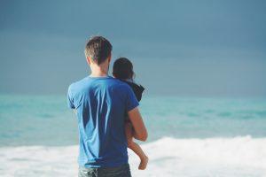 child custody man and child